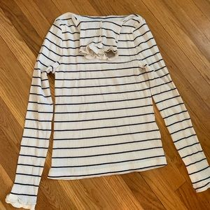 J Crew stripes turtleneck, new with tags. M!